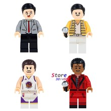 Single Mr. Bean Freddie Mercury Singer Basketball Michael Jackson Stephen Curry building blocks bricks toys for children(China)