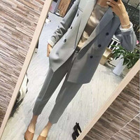 ant Suits Women Casual Office Business Suits Formal Work Wear Sets Uniform Styles Elegant Pant Suits/Costumes for women
