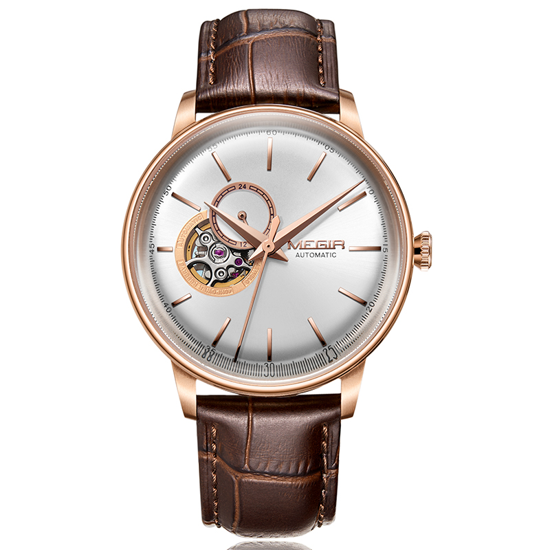 2018 NEW MEGIR Top Brand Luxury Men Mechanical Watch Waterproof Leather Casual Business Men Watch Saat Relogio Masculino|Mechanical Watches| |  - title=