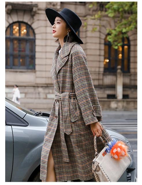Uk High Fashion 2019 Spring Winter Women Oversized Casual Woolen