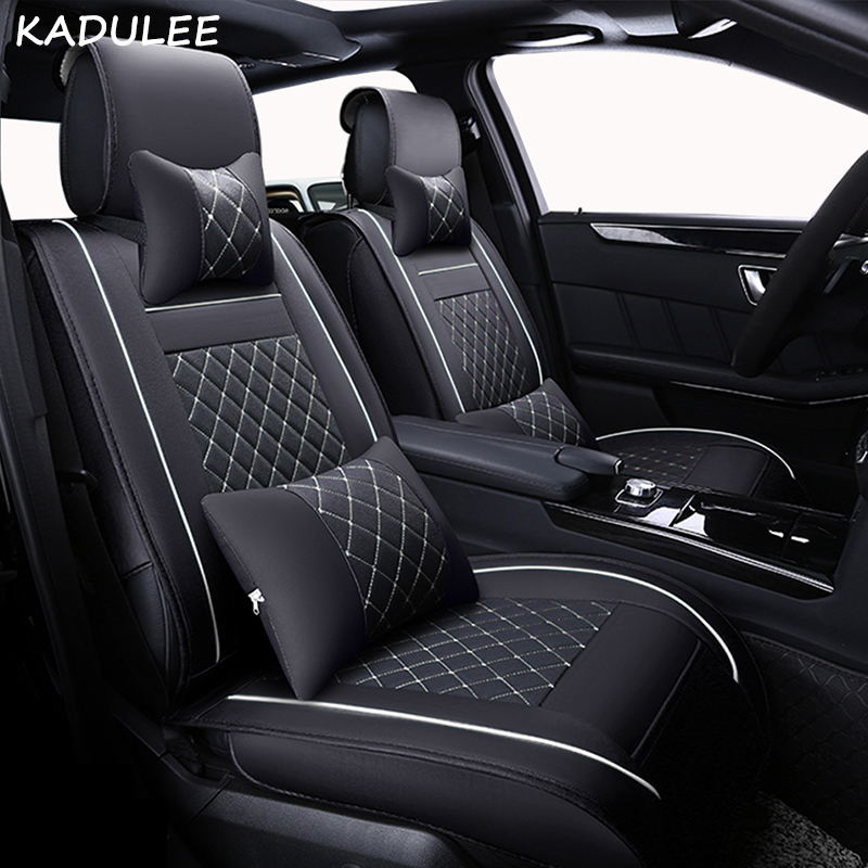 KADULEE Seat Cushion Linen/Breathable Car Seat Cover Pad Fit Most auto,Truck,Inside Covers for cars Protect front seat and back