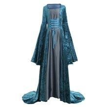 Cosplaydiy de Dame Médiévale Renaissance Historique Robe D inspiration de  Jeune Fille Velours robe de Bal Costume Victorienne Ro. a684617e8