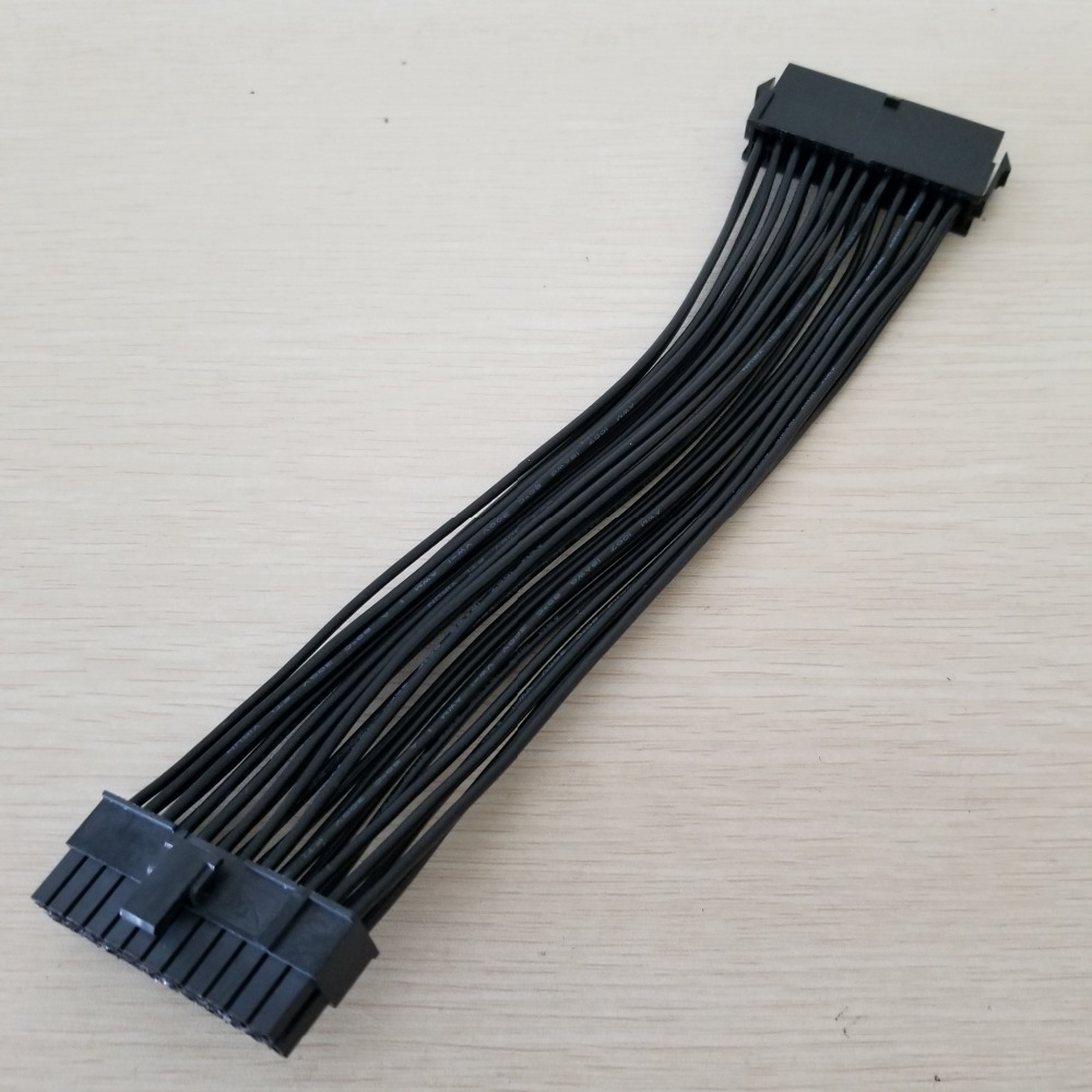 ATX Motherboard Mainboard 24Pin PSU Power Supply Extension Cable 18AWG For PC DIY 20cm/7.8inch