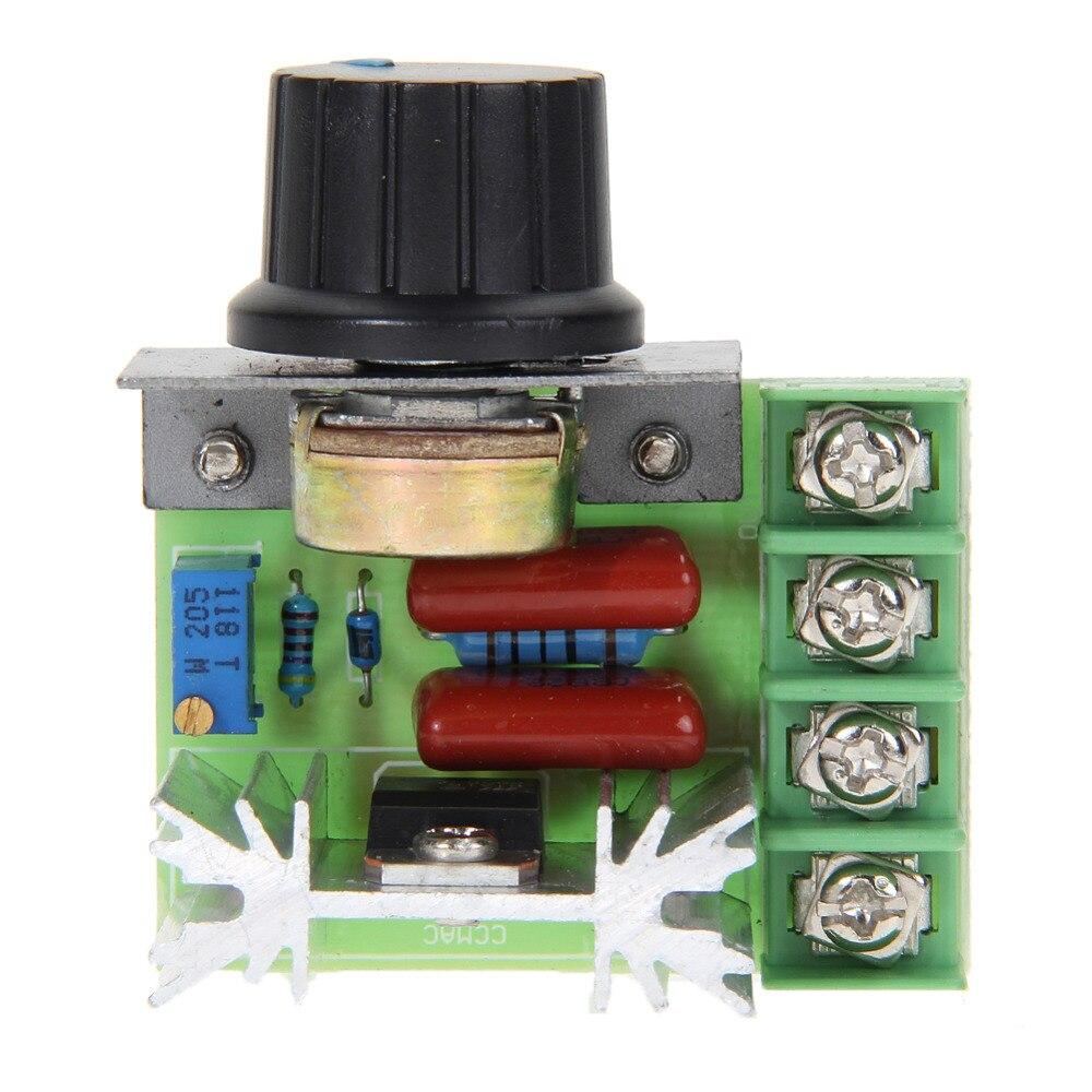 цена на AC 10V - 220V 2000W SCR Electronic SCR Voltage Regulator Controller Module Speed Controller Dimmer Thermostat
