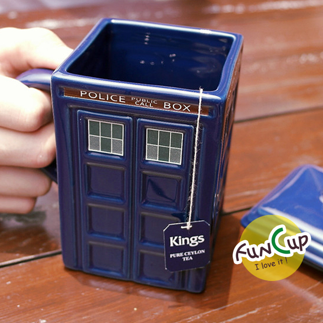 Doctor Who 17oz Tardis Figural Ceramic Sculpted Coffee Tea Mug With Lid Police Box Cup Travel Mug Novelty Birthday Gifts  1