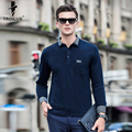 Troilus 2017 New Fashion High Quality Long Sleeve Cotton Solid Casual Men Polo Shirt Business Men's Polo Shirt Business Polo