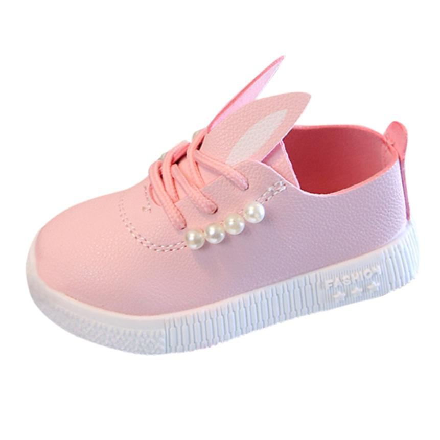 Children Toddler Baby Pearls Sneaker Girls Cartoon Soft Anti-slip Single Shoes cute l0704