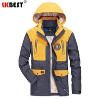 LKBEST 2019 Autumn Thin Waterproof Jacket Men Windproof Mens Coat long hooded Outwear Military Men Parka Casual Pizex Plus CF04