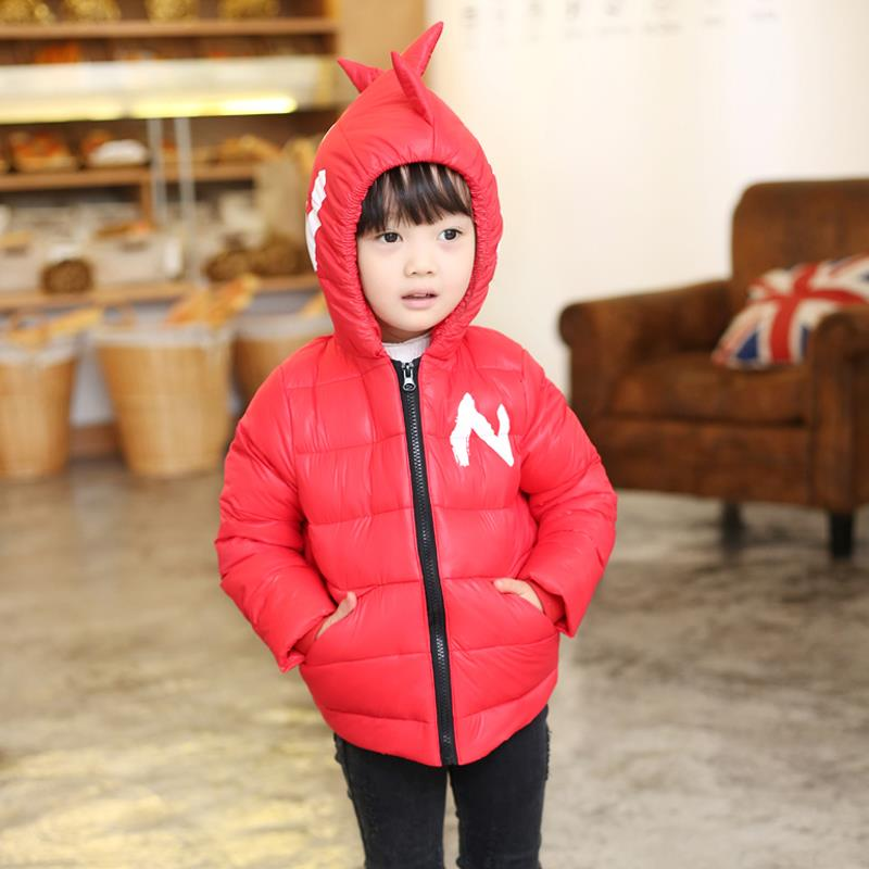 Winter Children Boys Jackets Cartoon Tyrannosaurus Girls Winter Coat Kids Outerwear Baby Boys/Girls Down Jacket Infant Clothes 13
