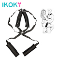 IKOKY Sex Chair Sex Furniture Fetish Sex Toys for Couple Adult Game Nylon Erotic Toys Flirting SM Bondage Shoulder Sex Swing