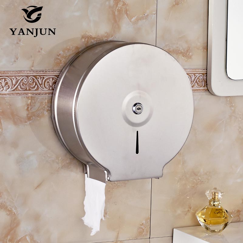 Yanjun High Quality Wall Mounted  Toilet  Paper Jumbo Roll Holder  Paper Towel Dispenser  Bathroom Accessories YJ-8630 купить