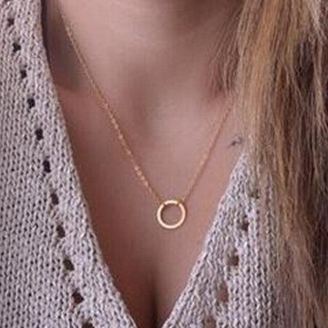 Moda Popular nuevo collar de cadena collar femenino cadena colgante collar