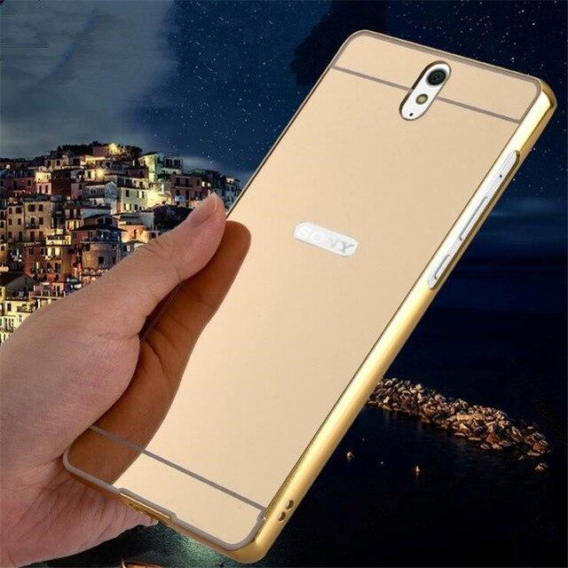 100% authentic 7e1c6 eba81 US $2.99 |For Sony Xperia C5 Ultra Dual E5553 E5533 Metal Aluminum Bumper +  Acrylic Hard Mirror Back Case Hybrid Luxury Phone Cover Cases on ...