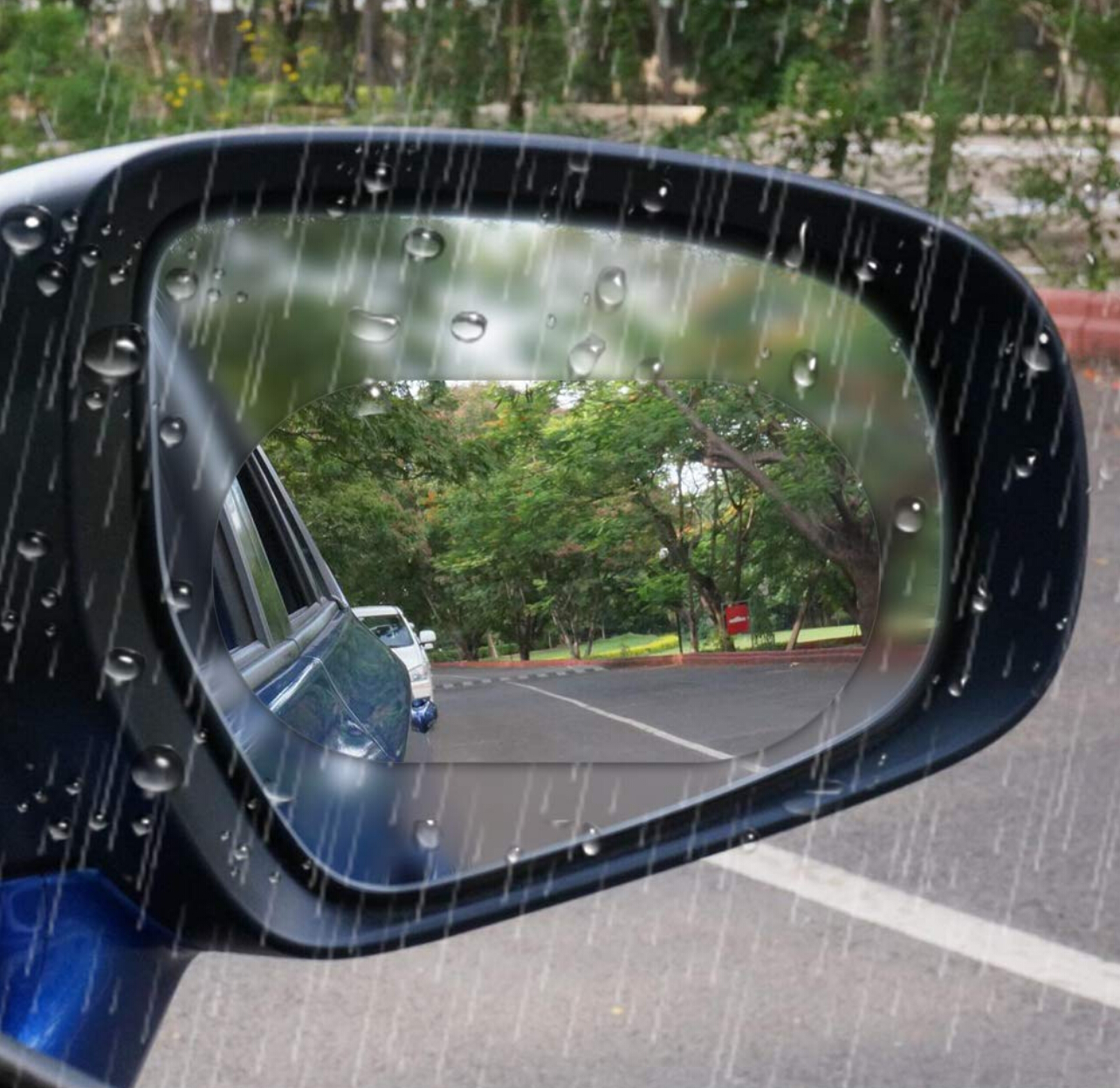 Image 4 - On Sale Car Rearview Mirror Rainproof Film Anti Fog Window Clear waterproof Rear View Mirror Nano Coating Transparent Protective-in Mirror & Covers from Automobiles & Motorcycles