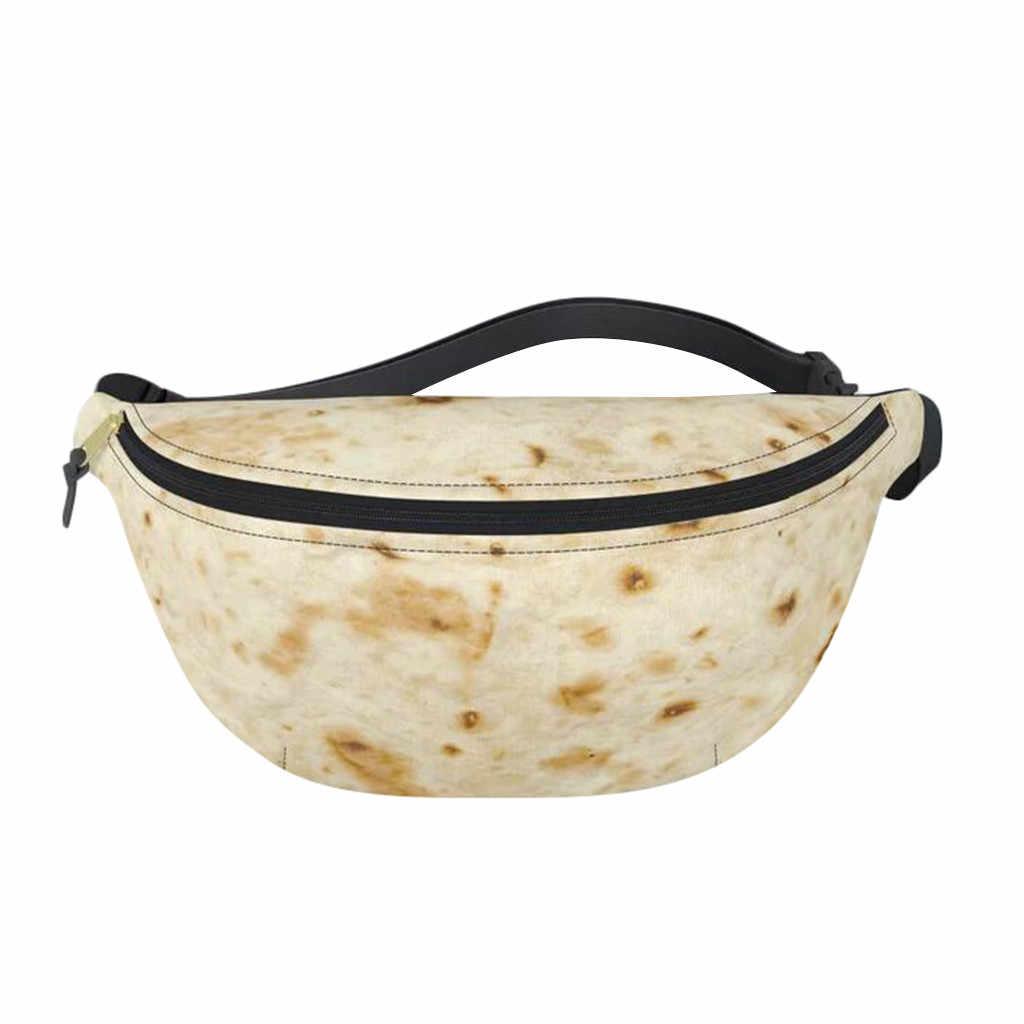 Novedad bolsas de cintura mujeres Burrito bebé adulto Tortilla manta Pack t belmessalers bolsa moda cintura paquetes láser Bolsa De Teléfono 25