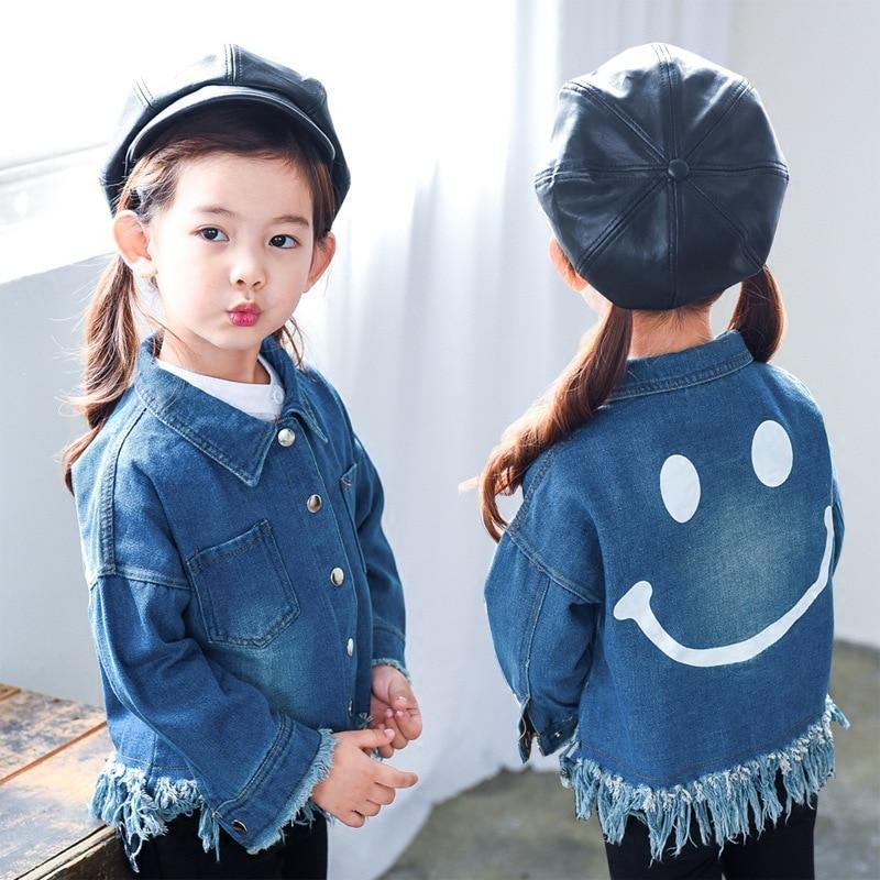 28f1d264a3af Fashion Girls Coat 2018 Autumn Baby Shirt Korean Version Loose ...