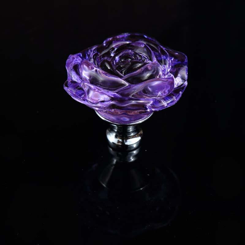 Glass Kitchen Cabinet Knobs Backsplash Tiles For 55mm Colorful Rose Crystal Wardrobe Dresser ...