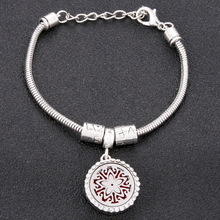 Openwork pattern Full zircon Locket Bracelet Bangle Stainless Steel Essential Oil Diffuser Perfume Aromatherapy Gift