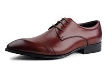 Designer Brown tan / black brogue shoes mens dress shoes genuine leather business shoes for work formal mens wedding shoes