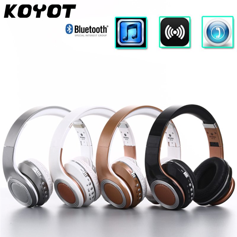 KOYOT Blutooth V4.2 Sport Headphones Deep Bass Headset Foldable Wired Wireless Smart stereo headset with Mic Support TF card headphones blutooth 4 1 wireless foldable sport earphone microphone headset with tf card slot mp3 player music earphone earpiece