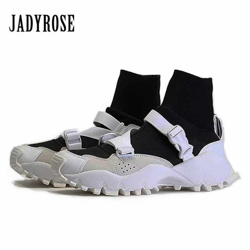 Jady Rose Sneakers Women Casual Shoes Flat Sock Boots Espadrilles Platform  Creepers Female Flats Tenis Feminino f785e5508c75