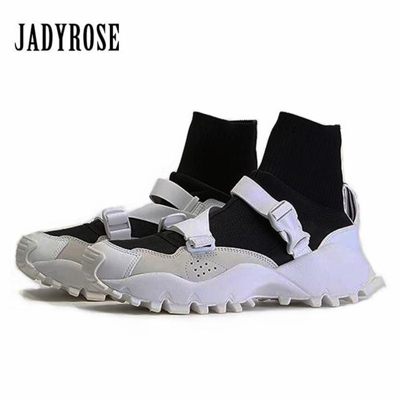 Jady Rose Sneakers Women Casual Shoes Flat Sock Boots Espadrilles Platform Creepers Female Flats Tenis Feminino High Top Shoes jady rose 2018 new women flats pointed toe velvet espadrilles female casual loafers flat shoes woman ladies shoe tenis feminino
