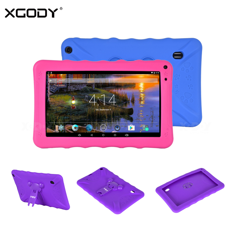 XGODY 9 Inch Tablet PC Android 6.0 1G+16G Quad Core 800*480 Dual Camera WiFi Bluetooth Tablet Tablets With Silicone Case Holder