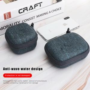 Image 3 - IKSNAIL EVA Hard Zipper Mini Earbuds Earphone Case For BlueBuds Leather Case In ear Bluetooth Earphone Bag Charger Organizer