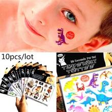 10 sheets Cartoon Temporary Tattoo Sticker Kids Body Art Novelty Gag Toys Waterproof 2-3 Days BUY GET 2 FREE