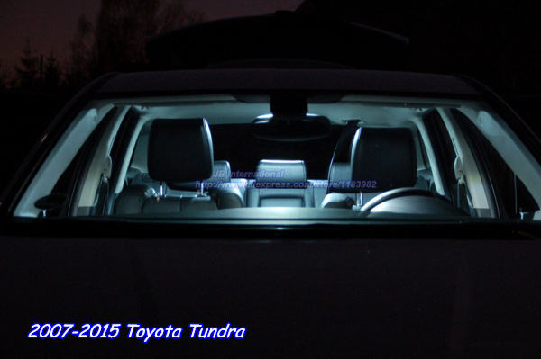 10pcsxCar LED For Toyota Tundra Interior Dome+Map+Vanity  Mirror+Trunk+License
