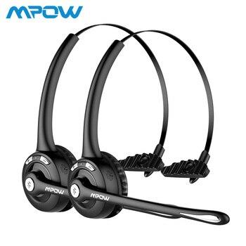1/2 pack Mpow Pro Profissional Sem Fio Bluetooth fone de ouvido Com Microfone 13 H Tempo de Fala Para O Motorista de Call Center Skype Escritório