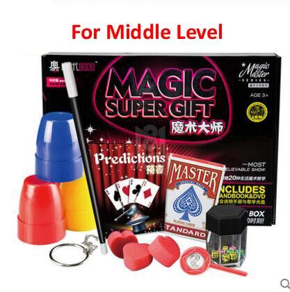 Classique enfants tours de magie set jouets super haute qualité avec manuel DVD tours de magie spectacle de scène cadeau pour les enfants - 3