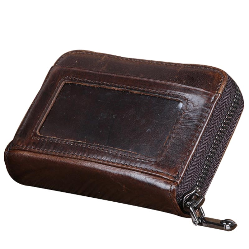 Men Wallet Cowhide Genuine Leather Purse Money Clutch Vintage Zipper Card Holder Coin Photo 2017 Short Designer Male Wallets