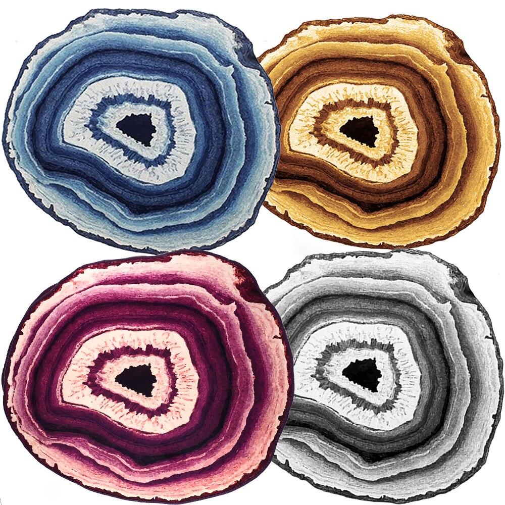 Grands tapis bleu/violet/gris/jaune rayé tapis et tapis doux et lisse cristal velours tissu grands tapis pour salon