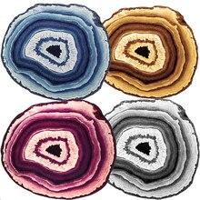 Большие ковры синий/фиолетовый/серый/желтый полосатый ковер и ковер мягкая и гладкая Хрустальная бархатная ткань большие ковры для гостиной