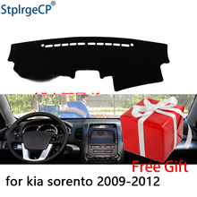 Per Kia sorento 2009 2010 2011 2012 cruscotto tappetino pad di Protezione Ombra Cuscino Pad interni sticker car styling accessori