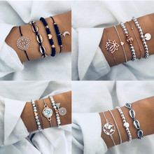 30 Styles Mix Charm Bracelets for Women Boho Tassel Bracelet Jewelry Wholesale Wrap Beads Charms Bracelets & Bangles(China)