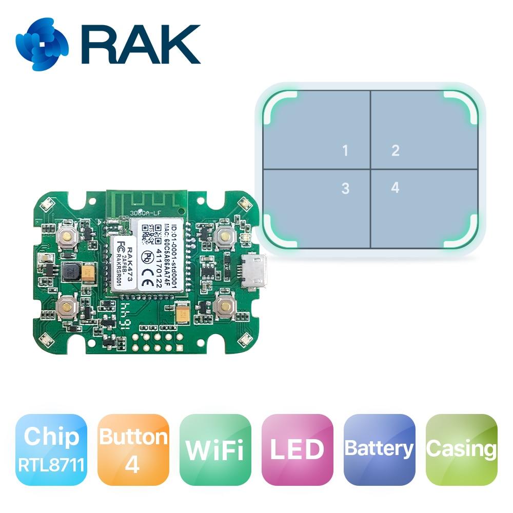 RAK611 WiFi Module IoT Internet Smart Button Dash Button Development Hardware with Casing Battery Q168 кабель двухжильный arnold rak 18м 364вт