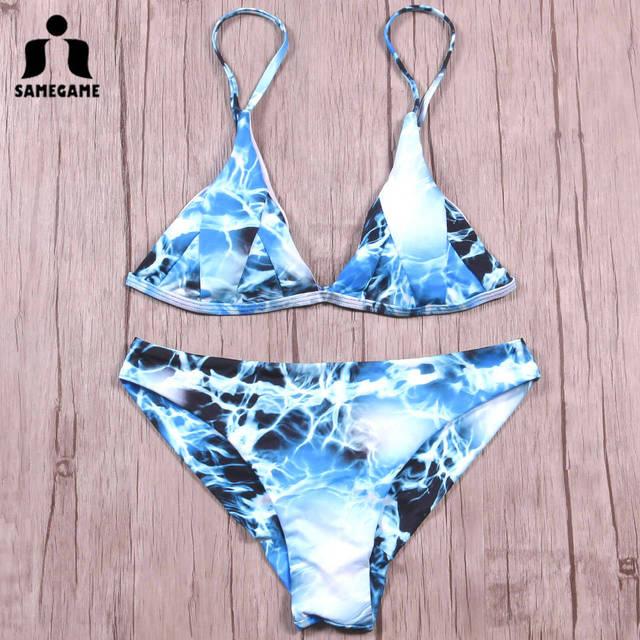 7768be3021548e SAMEGAME 2019 Newest Sexy Mini Micro Bikini Swimwear Women Swimsuit Thong  Brazilian Bikini Set Bathing Suits Swim Wear Biquini