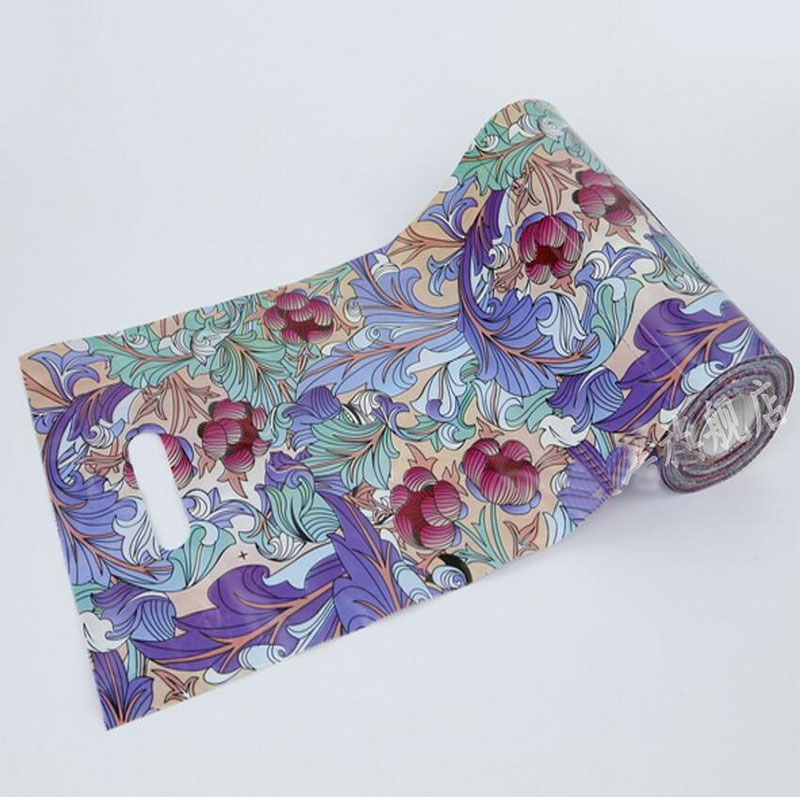 100 Pcs Pretty Flowers Design Gift Packaging Bag with Handle,Jewelry Packaging bag,Beauty Storage Bag free delivery
