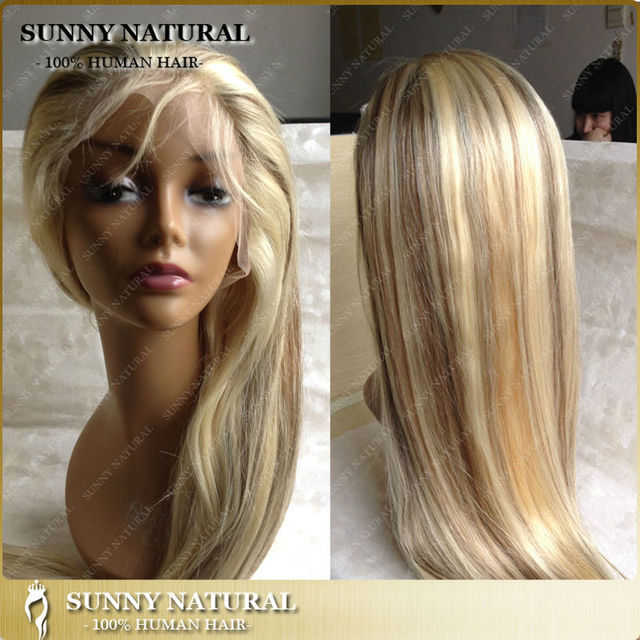 Nicki Style Piano Color 627613 Ombre Hair Wigs Lace Front Brazilian Full Lace Human Hair Wigs
