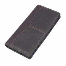 J.M.D High Grade Cow Leather Men Long Wallets Solid Coffee Men's Credit Card Purse Classic Business Card Wallet 8059Q