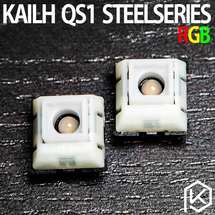 2pcs/set 100% original new Switch Kailh QS1 RGB linear switch for Steelseries Apex M800 mechanical keyboard steelseries apex m400 blue edition game machine keyboard black