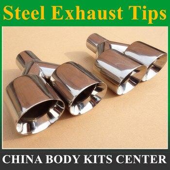 Бесплатная доставка: 1 шт. Высокое качество 1 шт. 63 мм-89 мм Серебряный конец 304 нержавеющая сталь гоночная двойной наконечник глушитель наконе... >> Shenzhen Ranyi Car products Supplies Store
