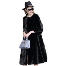 Фотография Fur coat of women 2017 fur coat high quality imitation rabbit fur fake fur coat seven sleeves large size women winter