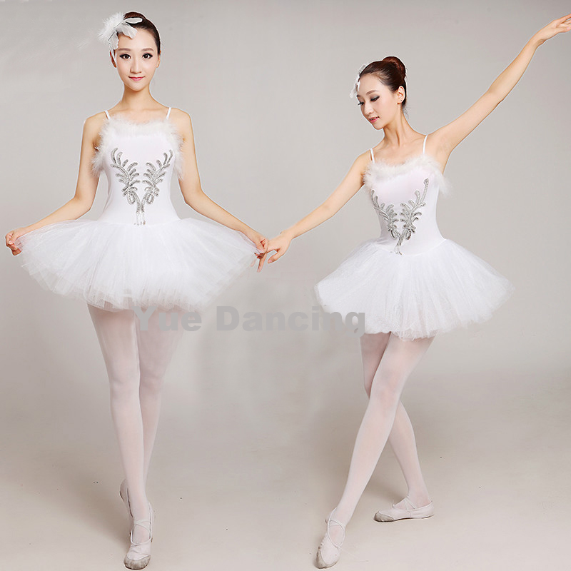 Adults White Swan Lake Ballet Dress Women Ballerina Tutu Costume Dancewear Classical Ballet Leotard Stage Performance For Girls