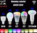 Mi. light 2.4G lâmpada led, GU10 E14 E27 AC 85-265 v conduziu a lâmpada, o smart sem fio 4 w 5 w 6 w 8 w 9 w ww/cw/rgbw/rgbww levou lâmpada livre grátis