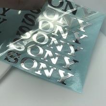 New fashion DIY decoration  SONY Sony camera audio Mobile phone computer sticker metal label  6x1cm  10pcs  Free shipping