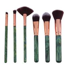 6 pcs Pro Make-Up Borstel Set Grote Vissenstaart Foundation Poeder Make-up Kwasten Oogschaduw Contour Blending Cosmetische Borstel(China)
