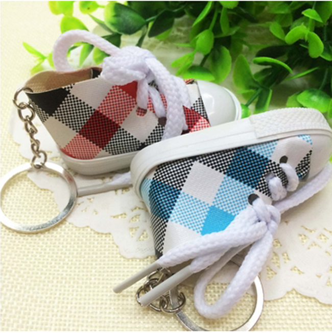 100pcs Lot Mini Canvas Sneaker Shoes keychain Cute Gifts Shoe Keychain  Tennis Sport Shoes Keyring Printing Doll Shoe Key Ring-in Key Chains from  Jewelry ... bd4f715ccc02